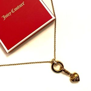 🔥🍎 Juicy Couture Gold Tone Long Necklace